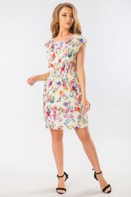 Летнее платье с розами