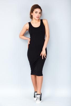 Платье-майка черного цвета