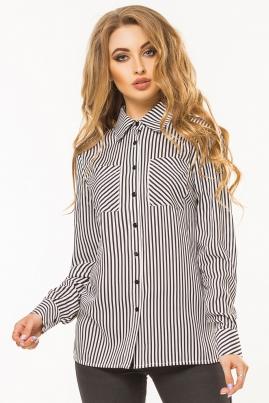 Черно-белая рубашка в полоску