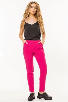 Малиновые брюки со складками