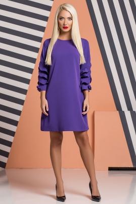 Фиолетовое платье с бантиками и воланами
