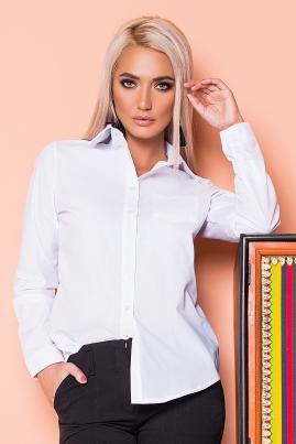 Белая рубашка с 1 карманом